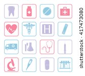 medical icons set. vector... | Shutterstock .eps vector #417473080