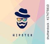 vector illustration of glasses... | Shutterstock .eps vector #417475810
