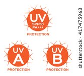 uv protection logo   icon and... | Shutterstock .eps vector #417475963