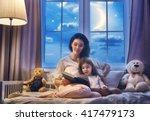Family Reading Bedtime. Pretty...