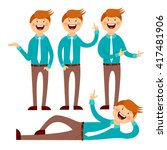 man style office   a person... | Shutterstock .eps vector #417481906
