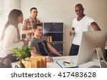 diverse group of multi ethnic... | Shutterstock . vector #417483628