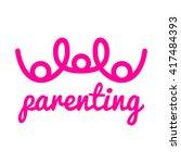 parenting logo template | Shutterstock .eps vector #417484393