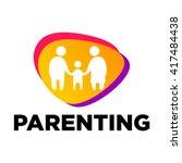 parenting logo template | Shutterstock .eps vector #417484438
