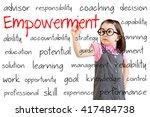 cute little girl wearing... | Shutterstock . vector #417484738
