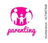 parenting logo template  | Shutterstock .eps vector #417487468