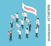 isometric business people... | Shutterstock .eps vector #417487858