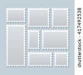 blank postage stamps in... | Shutterstock .eps vector #417492538