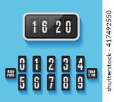 wall flap counter clock... | Shutterstock .eps vector #417492550