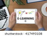 knowledge training e learning... | Shutterstock . vector #417493108