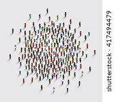 people in the shape of circle . ... | Shutterstock .eps vector #417494479