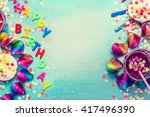 happy birthday party background ... | Shutterstock . vector #417496390