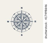 compass   vector illustration | Shutterstock .eps vector #417498646