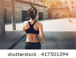sport woman.runner. running on... | Shutterstock . vector #417501394