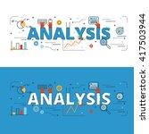 analysis lettering flat line...   Shutterstock .eps vector #417503944