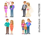 happy family stages. creating... | Shutterstock .eps vector #417506338