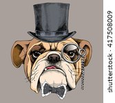 Bulldog Portrait In A Bowler...