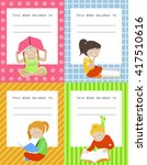 vector set of book labels for... | Shutterstock .eps vector #417510616