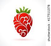 decorative ornamental... | Shutterstock .eps vector #417511378