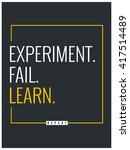 experiment fail learn repeat ... | Shutterstock .eps vector #417514489