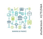 banking and finance. vector... | Shutterstock .eps vector #417515464