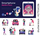 smartphone addiction 2 flat... | Shutterstock .eps vector #417516136
