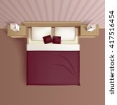 classic family bedroom interior ... | Shutterstock .eps vector #417516454