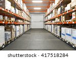 pallet racking systems in... | Shutterstock . vector #417518284