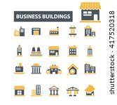 business buildings icons  | Shutterstock .eps vector #417520318