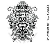 gothic coat of arms with skull  ...   Shutterstock .eps vector #417520666