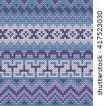 knitted varicolored seamless... | Shutterstock .eps vector #417523030