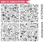 set seamless patterns  hand... | Shutterstock .eps vector #417529600