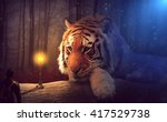 stunning fantasy tiger | Shutterstock . vector #417529738