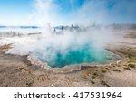 Blue Geyser Pool At Yellowston...