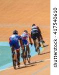 bike race on velodrome track... | Shutterstock . vector #417540610