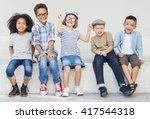 kids fun children playful... | Shutterstock . vector #417544318