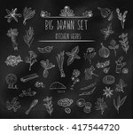 set of various doodles  hand... | Shutterstock .eps vector #417544720