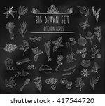 set of various doodles  hand... | Shutterstock .eps vector #417544720