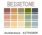 beigetone color tone with code... | Shutterstock .eps vector #417545809