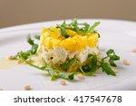 mango and avocado tartare with... | Shutterstock . vector #417547678