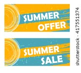 summer offer and sale banners   ... | Shutterstock .eps vector #417551374