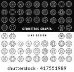 set of hipster vector geometric ... | Shutterstock .eps vector #417551989