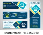 bus icon on horizontal and... | Shutterstock .eps vector #417552340