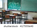 Wooden Thai School Desk And...