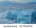 Huge Blocks Of Ice.