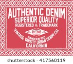 california authentic denim ... | Shutterstock .eps vector #417560119