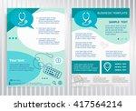 stethoscope symbol on vector... | Shutterstock .eps vector #417564214