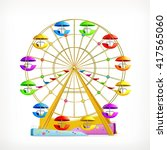 ferris wheel  vector icon | Shutterstock .eps vector #417565060