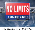 no limits or boundaries go all... | Shutterstock . vector #417566254