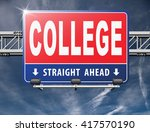 college education and knowledge ... | Shutterstock . vector #417570190